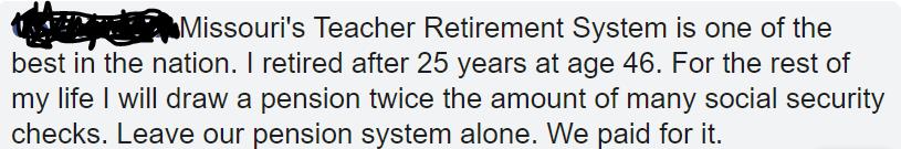 Missouri's Unreal Teacher Pension Plan